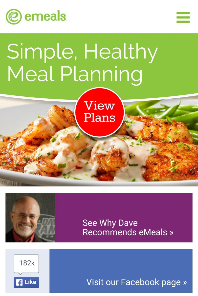 meal planning with emeals.com