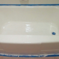 my new, old tub...bathtub painting!
