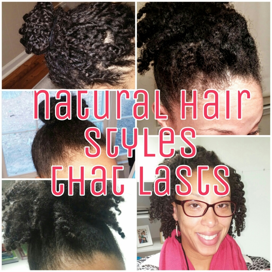 natural hair styles twist out wash and go bun