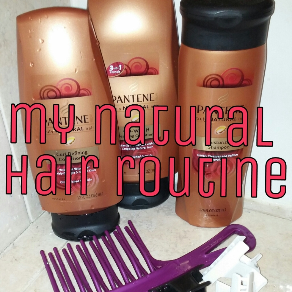 natural hair products routine