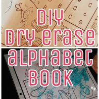diy dry erase alphabet book