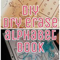 diy dry erase alphabet book