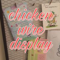 chicken wire display